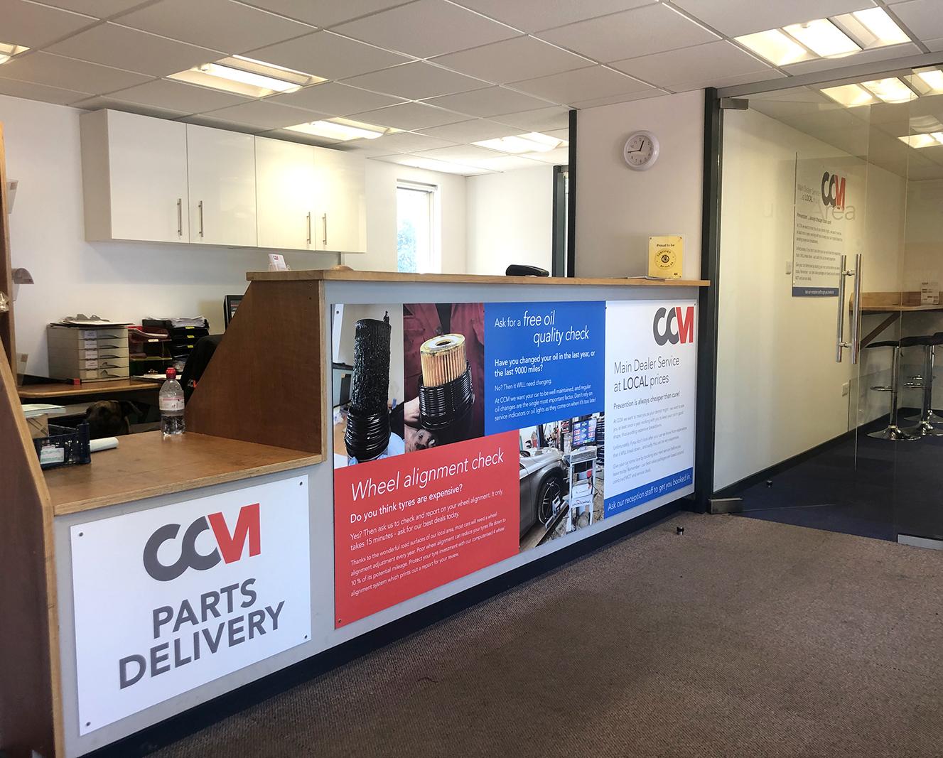 CCM Gatwick Reception Area