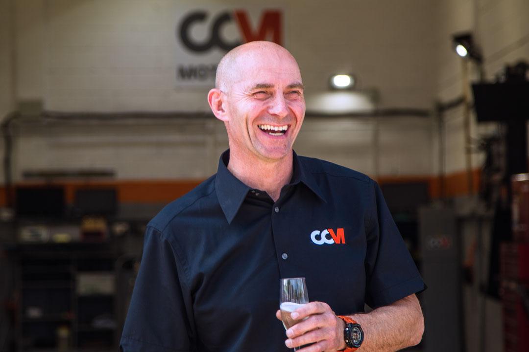 Stuart Manager of CCM Enjoys Sunshine At Cranleigh CCM Opening Day