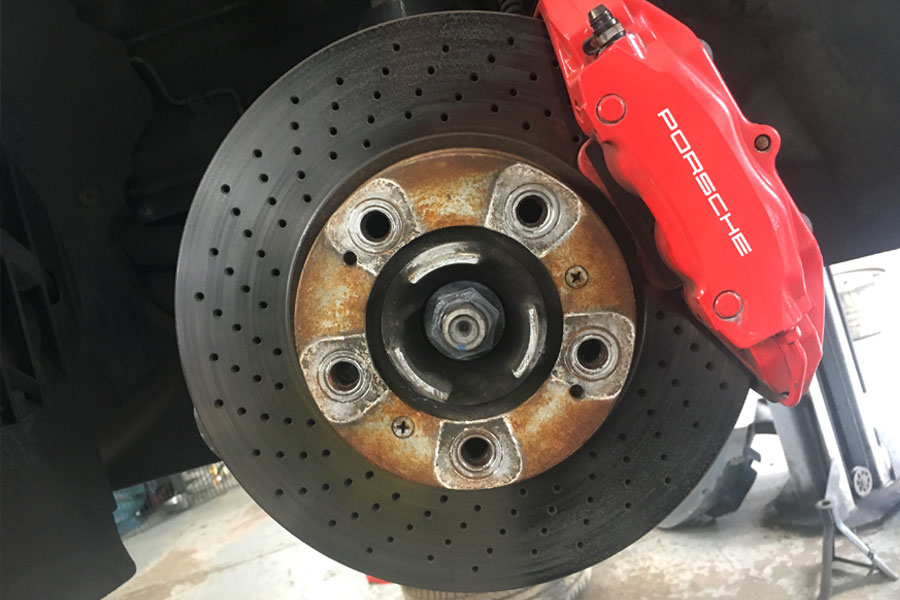 Porsche Brake Disc Repair at CCM Garage