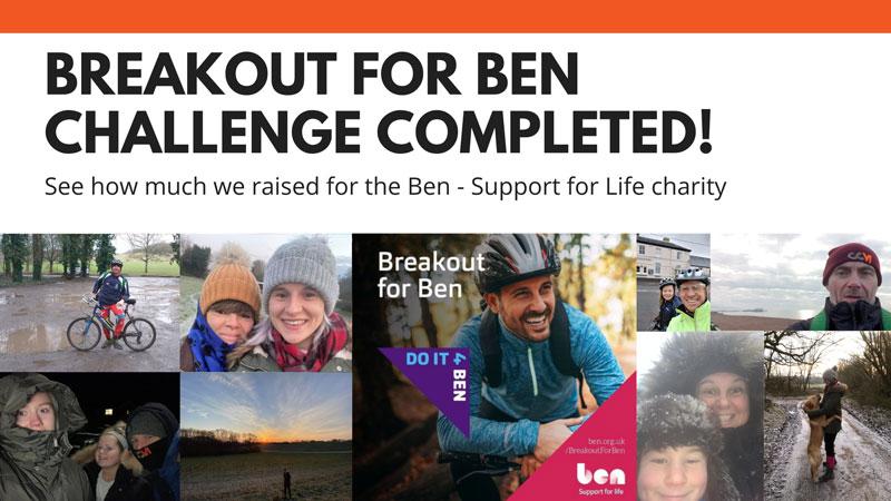 We Completed #BreakoutForBen Virtual Fundraiser!