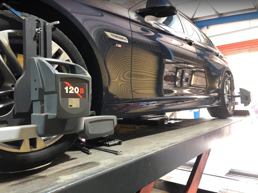 Four Wheel Alignment on BMW at CCM Gatwick