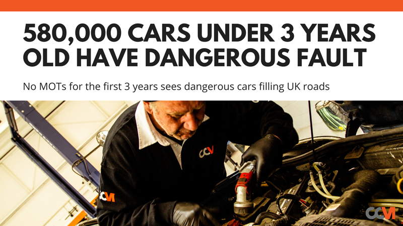 580,000 cars under 3 years old on the road with a dangerous fault